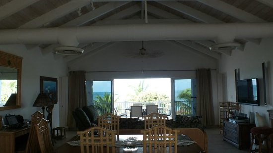 Crystal Sands Villa on the Beach:                   View from Living Area to deck/beach