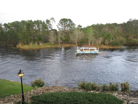 Disney's Port Orleans Resort - French Quarter:                   view of Riverboat behind Block 5