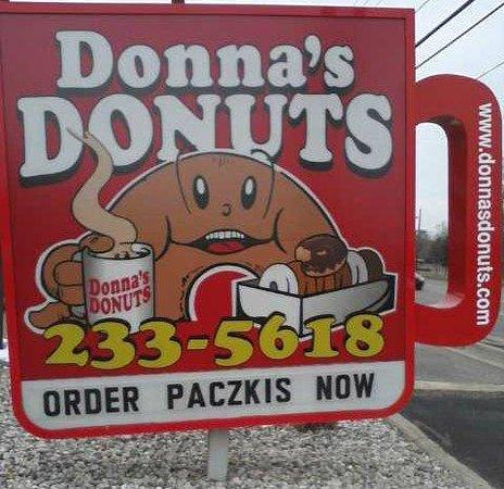 Donna's Donuts:                   Sign at Bristol Road