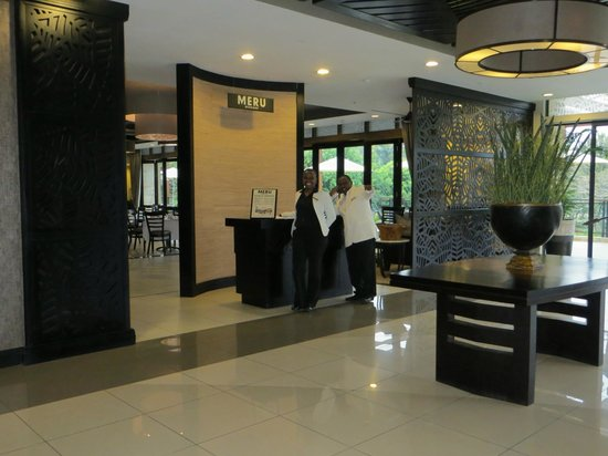 Mount Meru Hotel:                   Entrance to restaurant