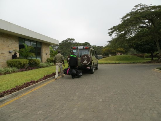 Mount Meru Hotel:                   Just outside, before loading up