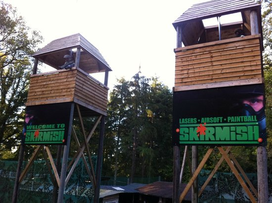 Skirmish Paintball Games Exeter: The Towers at Skirmish Paintball Exeter