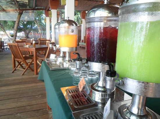 Samed Cabana Resort:                   Breakfast Juice Buffet!