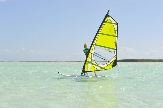 Lac Bay:                   windsurfing