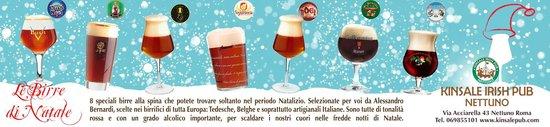 Kinsale Irish Pub: Tutte le birre di Natale