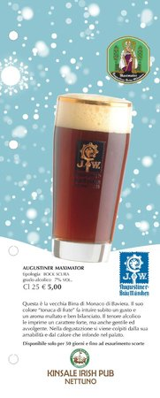 Kinsale Irish Pub: Augustiner Maximator - Birra di Natale