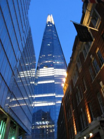 London Bridge Hotel:                   The Shard from outside the Hotel