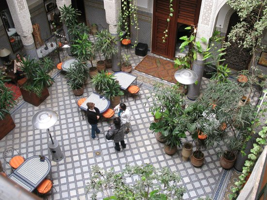 Riad Al Bartal:                   View from upper floor to central court