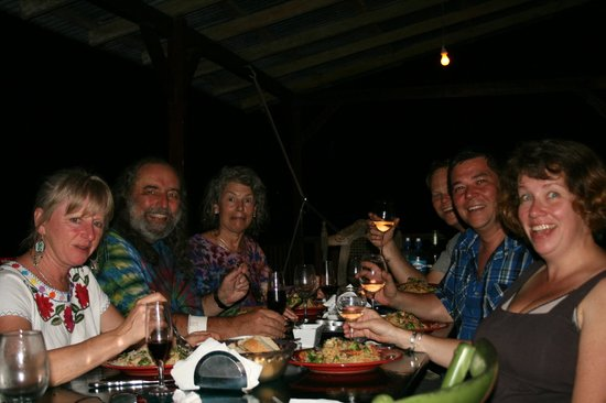 Bella Vista Lodge:                   enjoying one of Bert's amazing dinners with new friends!