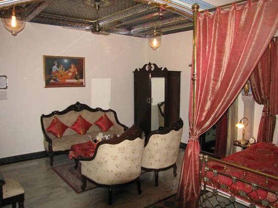 Shahpura House:                   Bedroom sitting area