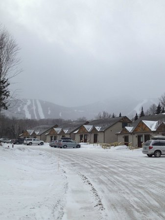 Jay Peak Resort:                   Street view of otehr cottages