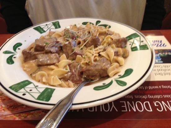 Marietta Diner:                   beef stroganoff                 