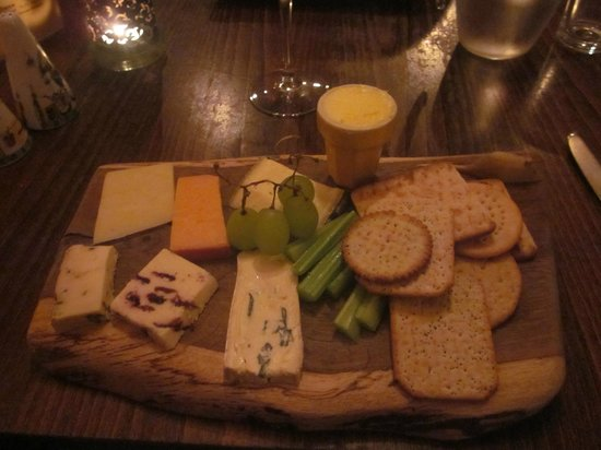 At Tristans: Cheese Board