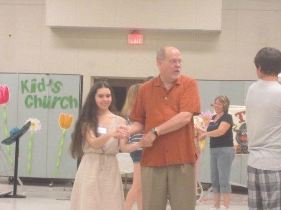 First United Methodist Church:                                     Pastor Bill square dancing