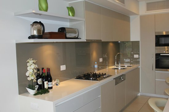 Coconut Grove Apartments:                   The kitchen area