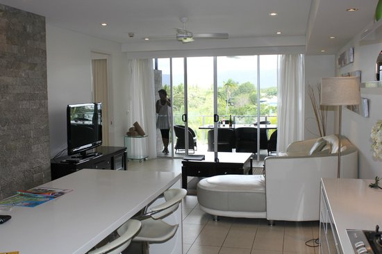 Coconut Grove Apartments:                   View to the balcony