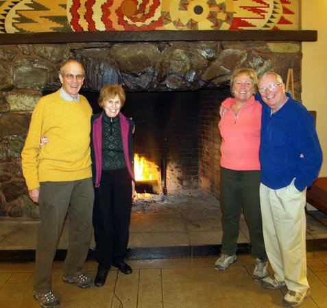 The Majestic Yosemite Hotel:                   The amazing large lobby fireplaces
