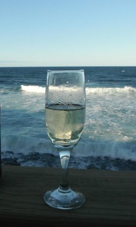 The Gallery Inn:                   My bubbly at the beach house