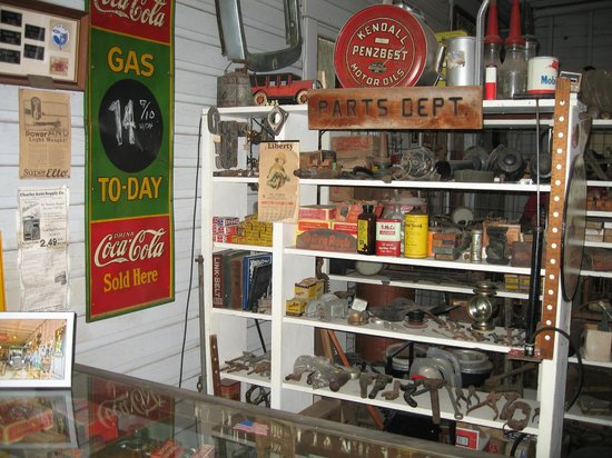 Pinellas County Heritage Village: garage goods