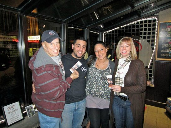 Rino's Pizza: Winners of Flyers tickets with Samantha & Julian
