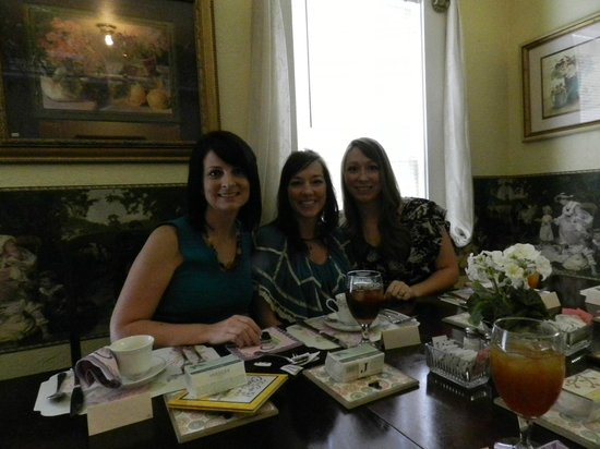 Mar Teres Tea Room:                   Inside the Tea Room with my sisters
