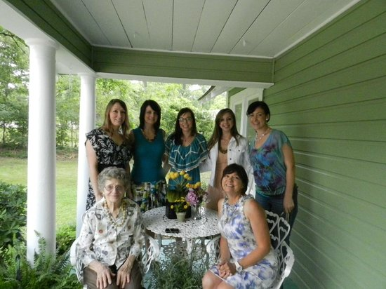 Mar Teres Tea Room:                   On the front porch of the Tea Room with the women in my family