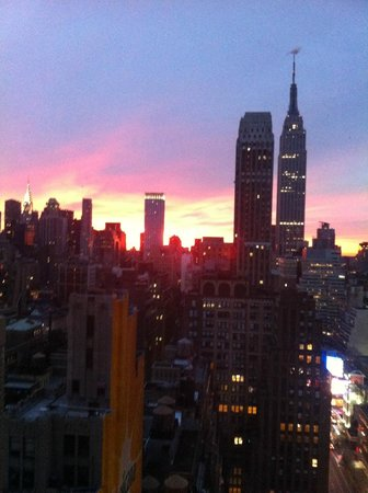 Wyndham New Yorker Hotel:                   Sunrise view from our room at the New Yorker!