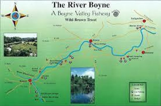 The Failte B&B: Map -- Boyne River Fishery