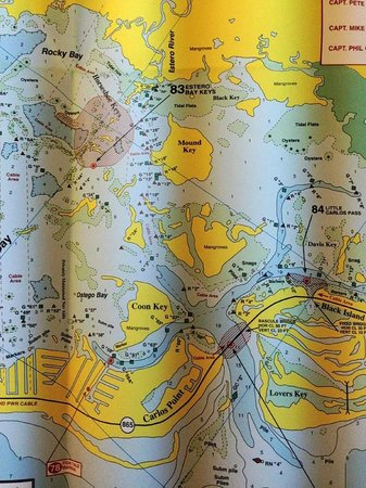 Navigational Map Of Jet Ski Trip To Estero Picture Of Dreamlander