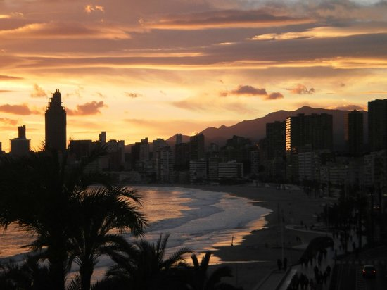 Apartamentos Atlántida: Sunset - as seen from the apartment