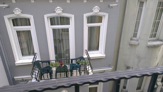 Forbes Suites:                   Hotel Balcony