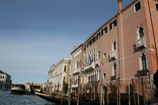 Ca' Sagredo Hotel:                   hotel from the gondola crossing the Grand Canal