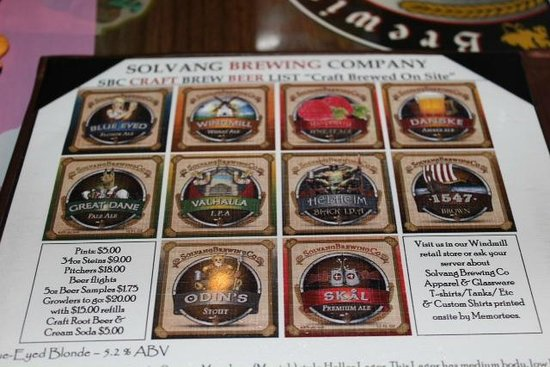 Solvang Brewing Company :                   Beers