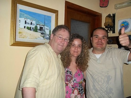 Elgoni Apartments:                   me and nickos and his lovely wife helena