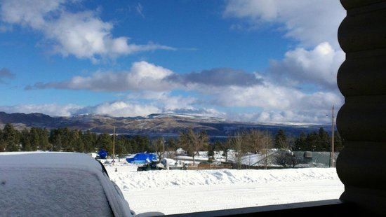 Flaming Gorge Resort :                   View from standard motel room - January 2013