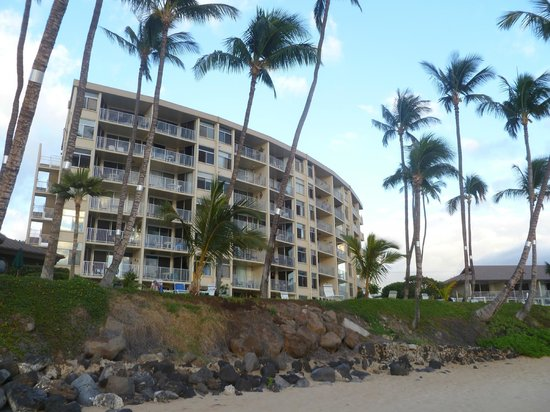 The Hale Pau Hana :                   View from beach