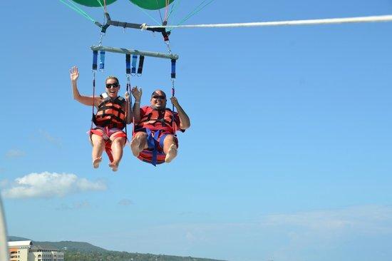 Para-sailing with Dressel Divers Jamaica!