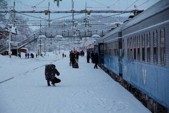 Arrenjarka Mountain Lodge:                   The best way to travel: sleeper train from Stockholm