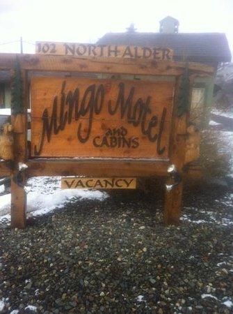 Mingo Motel:                                     Mingo sign