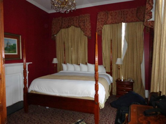 Maison St. Charles Hotel and Suites:                   King Room of 2 bedroom suite