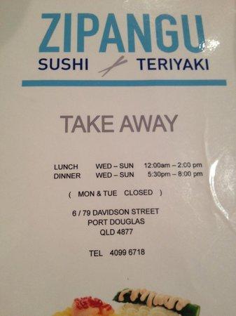 Sushi in Port Douglas - Zipangu