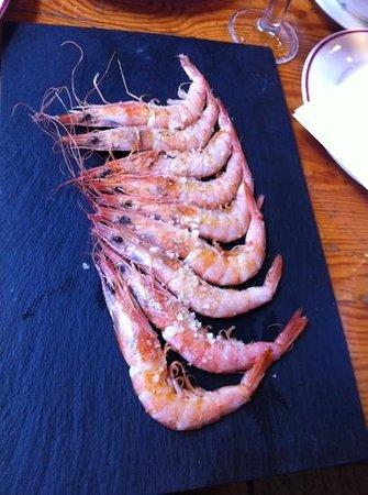 Alkalde Restaurante:                   gambas a la plancha
