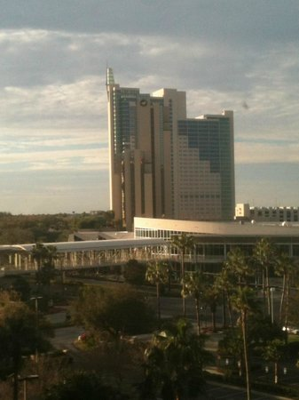 Rosen Centre Hotel:                   View of the Peabody across the street