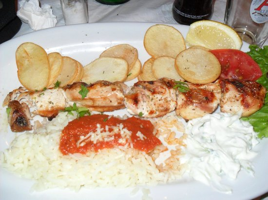 Finikas :                   Chicken souvlaki