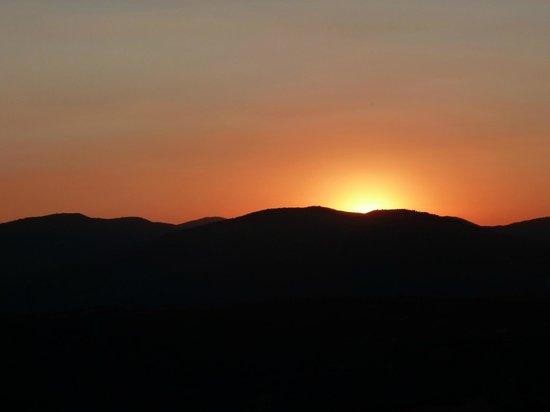 La Castagna:                   Sunset from Terrace