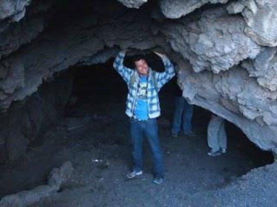 Pacaya Volcano:                   Cavern in the lava flow