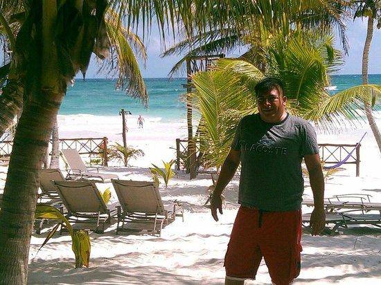 Cabanas Los Arrecifes:                   AFUERA DE LA RECEPCION,