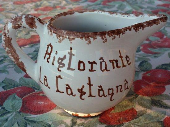 La Castagna:                   Ceramic House Wine jugs