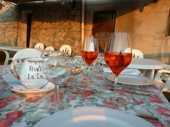 La Castagna : Terrace table