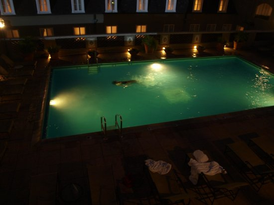 Omni Royal Orleans:                   Pool at night